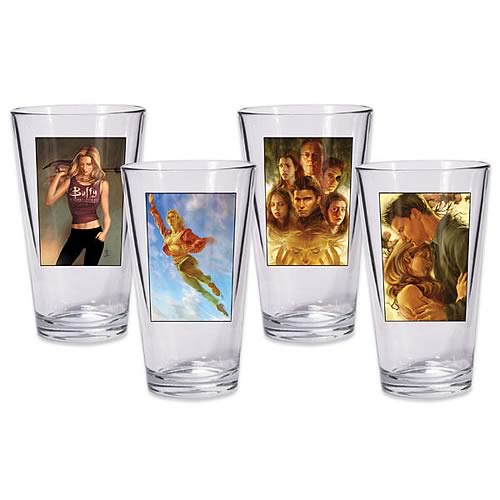 Buffy the Vampire Slayer Season 8 Pint Glass 4-Pack