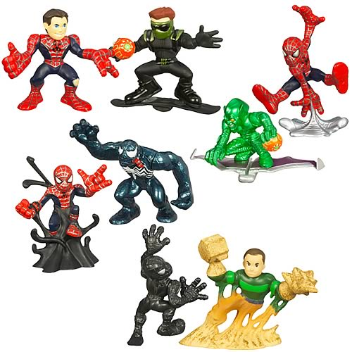 <b>Spider-Man</b> Super Hero Squad Wave 1 Set