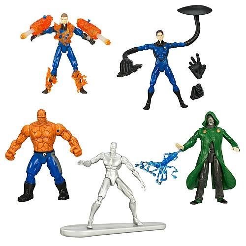 Fantastic <b>Four</b> Rise of the Silver Surfer Figures Wave 1 Set