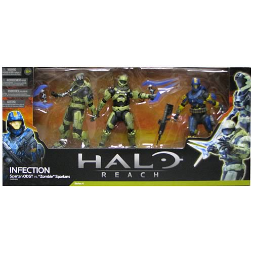 Halo Reach Series 4 Infection Action Figure 3-Pack