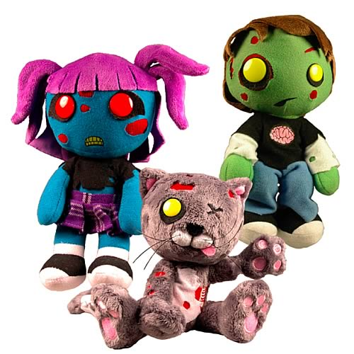 Creepy Cuddlers Series 2 Zombies Plush Set