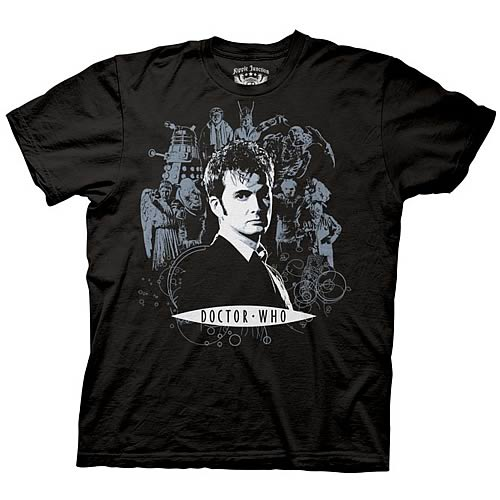 Doctor Who 10th Doctor Collage T-Shirt