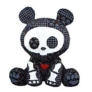 Skelanimals Dead in Plaid ChungKee (Panda) Plush