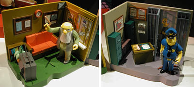 Simpsons Series 8 Interactive Playset Set