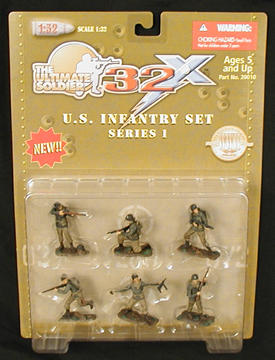 32X WWII US Infantry Figures