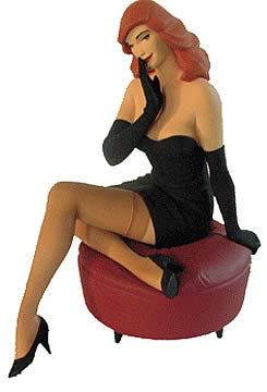 pin up on red ottoman statue attakus pin ups statues at entertainment earth item archive. Black Bedroom Furniture Sets. Home Design Ideas