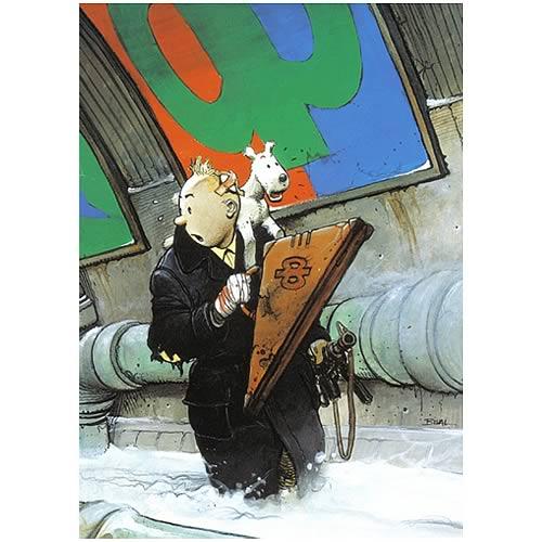 Enki Bilal Homage to Tintin Poster