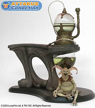Jabba the Hutt's Pipe with Salacious Crumb Cold Cast Statue