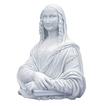 Mona Lisa Monochrome Bust (White Version)