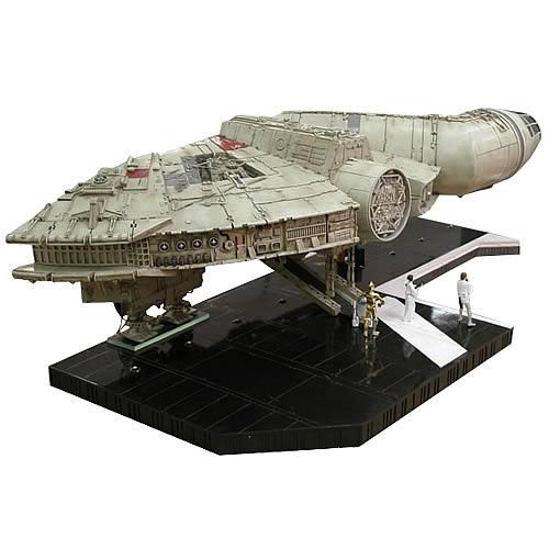 Millennium Falcon, Death Star, and Mouse Droid Statue Set