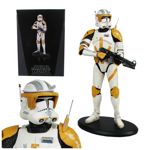 Star Wars Commander Cody with Blaster Cold Cast Statue