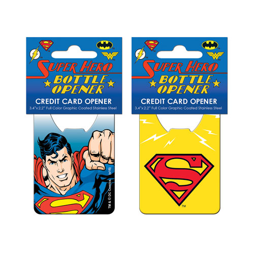 Superman Close Up Credit Card Bottle Opener