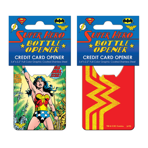 Wonder Woman Comic Credit Card Bottle Opener