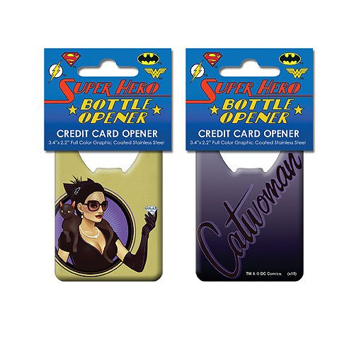 DC Comics Bombshells Catwoman Credit Card Bottle Opener