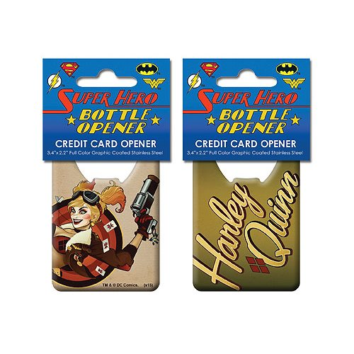 DC Comics Bombshells Harley Quinn Credit Card Bottle Opener
