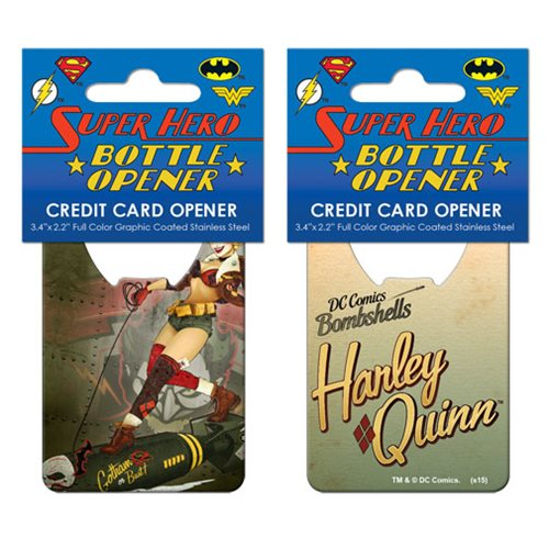 DC Bombshells Harley Quinn Cover Credit Card Bottle Opener