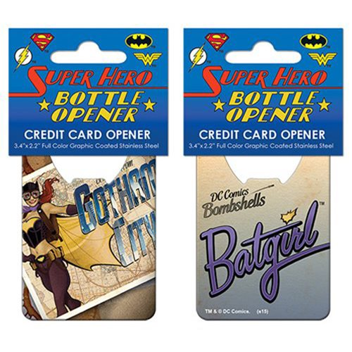 DC Comics Bombshells Batgirl Cover Credit Card Bottle Opener