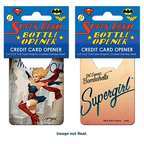 DC Bombshells Supergirl Cover Credit Card Bottle Opener