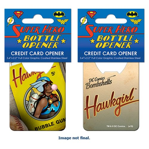 DC Bombshells Hawkgirl Cover Credit Card Bottle Opener