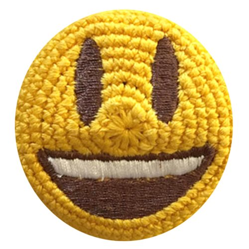 Emoji Wide Smile Crocheted Footbag
