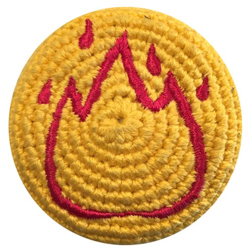 Emoji Flame Crocheted Footbag