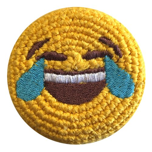 Emoji Tears of Joy Crocheted Footbag