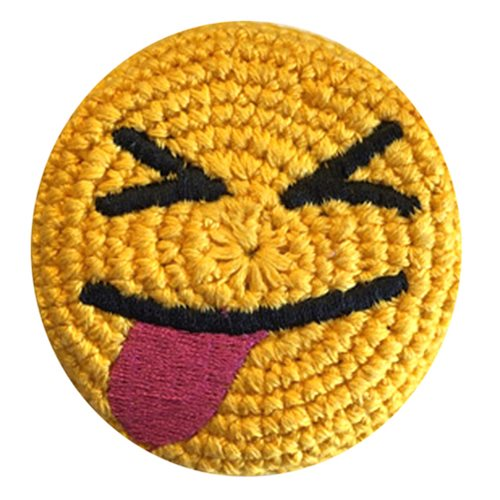 Emoji Tounge Smile Crocheted Footbag