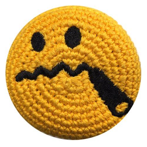 Emoji Smoking Cigar Crocheted Footbag