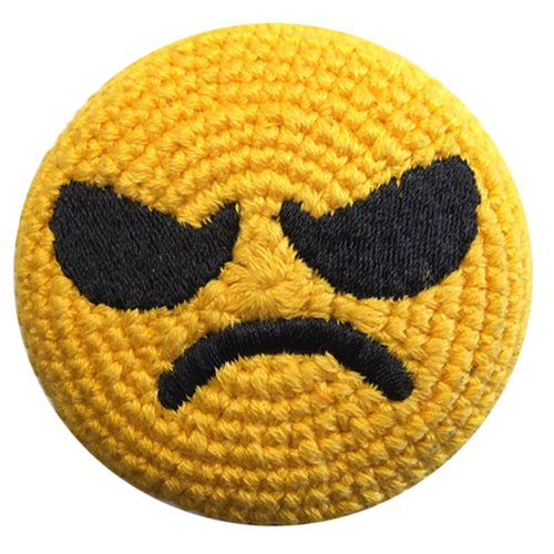 Emoji Angry Face Crocheted Footbag