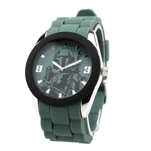 Star Wars Boba Fett Watch with Green Rubber Strap