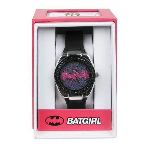 Batman Batgirl Pink Emblem Strap Watch