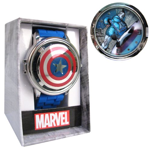 Captain America Shield Icon Spinner Watch