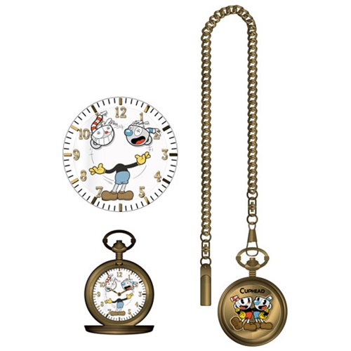 Cuphead Character Cover Pocket Watch