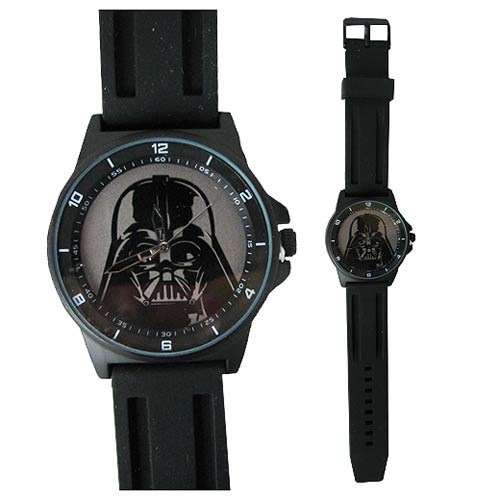 Star Wars Darth Vader Tonal Black Strap Watch