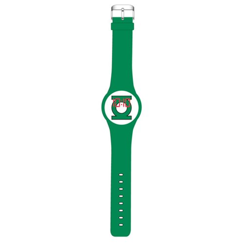 Green Lantern Emblem Green LED Watch