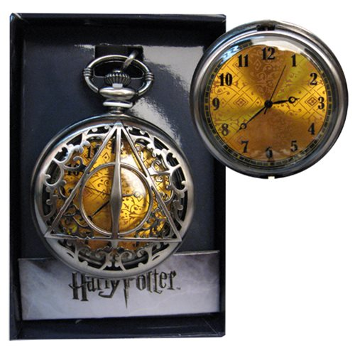harry potter deathly hallows filigree pocket watch accutime harry potter watches at. Black Bedroom Furniture Sets. Home Design Ideas