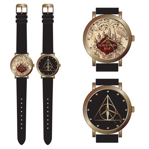 Harry Potter Marauder Map and Deathly Hallow Watch Set