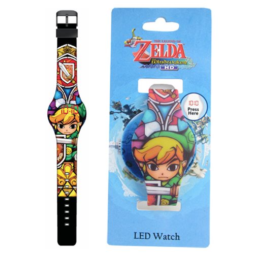 Legend of Zelda Stained Glass Print LED Watch