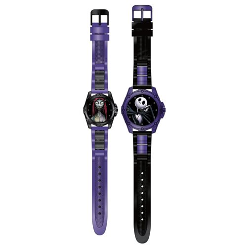 Nightmare Before Christmas Jack and Sally Watch 2-Pack Set