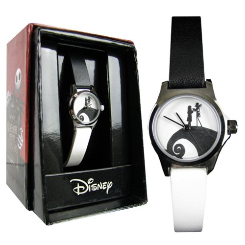 Nightmare Before Christmas Black and White Strap Watch