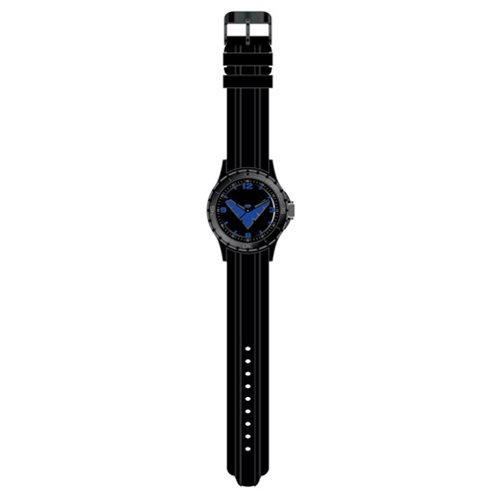 Nightwing Classic Logo with Black Strap Watch
