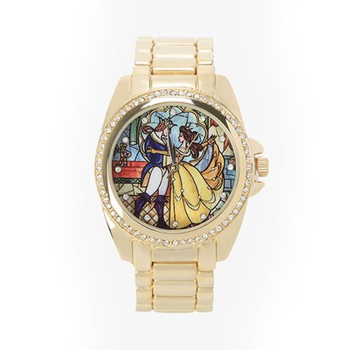 Beauty and the Beast Yellow Colored Bracelet Watch