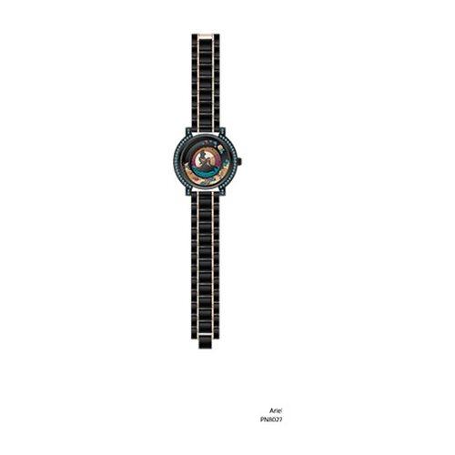 Ariel Silhouette Gunmetal Metal Link Bracelet Watch