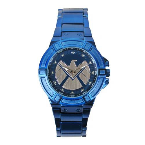 Agents of SHIELD Blue Watch with Blue Metal Bracelet