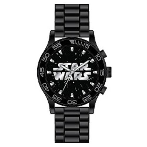 Star Wars Logo Watch with Black Rubber Strap