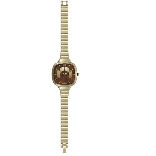 Star Wars Princess Leia Hair Silhouette Gold Link Watch