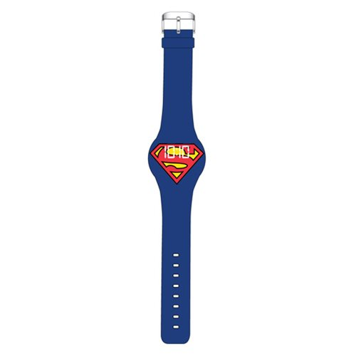 Superman Classic Symbol Blue LED Watch
