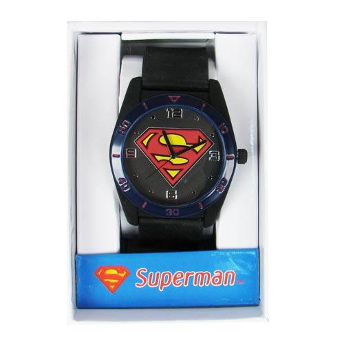 Superman Emblem Tank Case Strap Watch