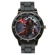 Star Wars Episode VII The Force Awakens Kylo Ren Grey Silicone Strap Watch