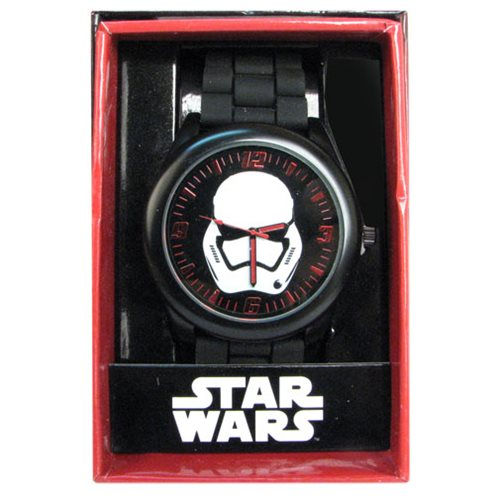 Star Wars Episode VII TFA Stormtrooper Black Silicone Watch